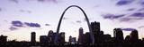 Gateway Arch with City Skyline at Sunset  St Louis  Missouri  USA 2013