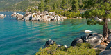 Boulders at Sand Harbor  Lake Tahoe  Nevada  USA