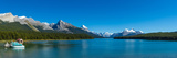 Lake with Mountains in the Background  Maligne Lake  Jasper National Park  Alberta  Canada