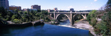 Monroe Street Bridge across Spokane River  Spokane  Washington State  USA