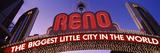 Low Angle View of the Reno Arch at Dusk  Virginia Street  Reno  Nevada  USA