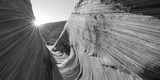 Sandstone Rock Formations  the Wave  Coyote Buttes  Utah  USA