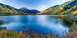 Crystal Lake Surrounded by Mountains  Ironton Park  Million Dollar Highway  Red Mountain