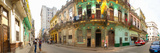 Buildings Along a Street  Havana  Cuba