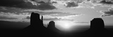 Silhouette of Buttes at Sunset  Monument Valley  Utah  USA