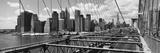 Traffic on a Bridge  Brooklyn Bridge  Manhattan  New York City  New York State  USA