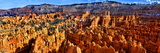 Hoodoo Rock Formations in Bryce Canyon National Park  Utah  USA