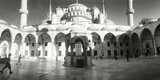 Courtyard of Blue Mosque in Istanbul  Turkey