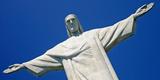 Low Angle View of the Christ the Redeemer  Corcovado  Rio De Janeiro  Brazil
