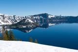 Lake in Winter  Crater Lake  Crater Lake National Park  Oregon  USA
