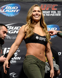 UFC 170 Weigh In: Feb 21  2014 - Ronda Rousey vs Sara McMann