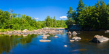 Moose River in the Adirondack Mountains  New York State  USA