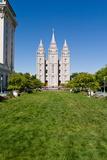Facade of a Church  Mormon Temple  Temple Square  Salt Lake City  Utah  USA