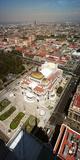 High Angle View of Palacio De Bellas Artes  Mexico City  Mexico