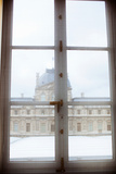 Louvre Museum Viewed Through a Window  Paris  Ile-De-France  France