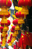Festive Lanterns at Bazaar  Yu Yuan Gardens  Shanghai  China