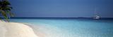 Beach and Boat Scene the Maldives
