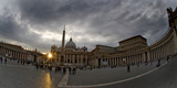 Basilica in the Town Square at Sunset  St Peter's Basilica  St Peter's Square  Vatican City