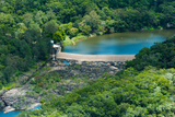Aerial View of a Dam on Barron River  Kuranda  Cairns  Queensland  Australia