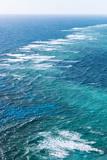 Waves Breaking on Great Barrier Reef  Queensland  Australia