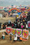 Ciqikou Carnival by the Jialing River During Chinese New Year  Ciqikou  Chongqing  China