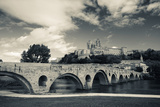 Pont Vieux Bridge with Cathedrale Saint-Nazaire in the Background  Beziers  Herault