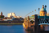 Pont Saint-Pierre Bridge and the Dome of the Hopital De La Grave at Sunrise  Toulouse