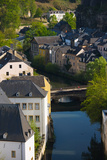 Houses in a Town  Grund  Luxembourg City  Luxembourg