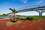 Blue Water Bridge at Port Huron  Michigan  USA
