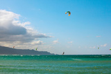 Tourists Kiteboarding in the Ocean  Maui  Hawaii  USA