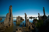 Tufa Formations at Mono Lake  Mono County  California  USA