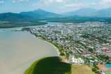 Aerial View of the City at Waterfront  Cairns  Queensland  Australia