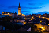 Elevated View of a Town with Eglise Monolithe Church at Dawn  Saint-Emilion  Gironde  Aquitaine
