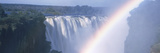 Rainbow over a Waterfall  Victoria Falls  Zambezi River  Zimbabwe