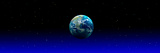 Earth in Space with Blue Mist (Photo Illustration) Papier Photo