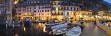 Boats at a Harbor  Limone Harbor  Lake Garda  Lombardy  Italy