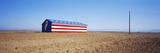 Flag Barn Along Highway 41  Fresno  California  USA