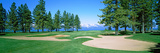 Sand Traps in a Golf Course  Edgewood Tahoe Golf Course  Stateline  Douglas County  Nevada  USA