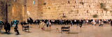 People Praying in Front of the Western Wall  Jerusalem  Israel