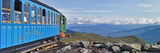 Train on Railroad Tracks  Mount Washington Cog Railway  Mt Washington  New Hampshire  USA