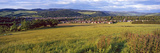 Fields with a Town in the Background  Peebles  Scottish Borders  Scotland