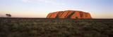 Landscape with Sandstone Formation at Dusk  Uluru  Uluru-Kata Tjuta National Park