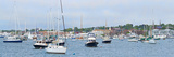 Sailboats in an Ocean  Newport Harbor  Newport  Rhode Island  USA