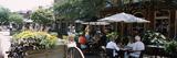 Group of People at a Sidewalk Cafe  Savannah  Chatham County  Georgia  USA