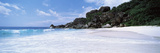 Rock Formations on the Beach  Grand Anse  La Digue Island  Seychelles