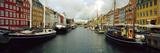 Boats in a Canal  Nyhavn  Copenhagen  Denmark