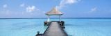 Beach and Pier the Maldives