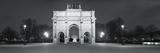 Triumphal Arch in a City  Arc De Triomphe  Place De La Concorde  Paris  Ile-De-France  France