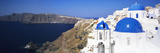 Blue Domes of a Church  Oia  Santorini  Cyclades Islands  Greece
