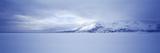 Frozen Jackson Lake in Winter  Grand Teton National Park  Wyoming  USA